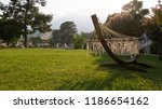 summer vacation with a hammock... | Shutterstock . vector #1186654162