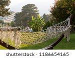 summer vacation with a hammock...   Shutterstock . vector #1186654165