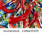 red chilli or chilli cayenne...   Shutterstock . vector #1186655455