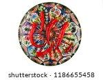 red chilli or chilli cayenne...   Shutterstock . vector #1186655458