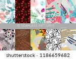 collection of seamless patterns.... | Shutterstock .eps vector #1186659682