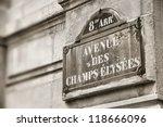 Paris  France   Champs Elysees...