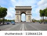 paris  france   famous... | Shutterstock . vector #118666126