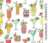 cocktail alcohol beverage... | Shutterstock .eps vector #1186664272