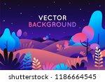 vector illustration in trendy... | Shutterstock .eps vector #1186664545