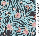 tropical vector seamless... | Shutterstock .eps vector #1186664605