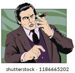 stock illustration. confident... | Shutterstock .eps vector #1186665202