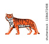 sports mascot icon illustration ... | Shutterstock .eps vector #1186672408