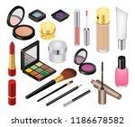 cosmetic vector beauty make up... | Shutterstock .eps vector #1186678582