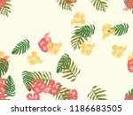 tropical background. green ... | Shutterstock .eps vector #1186683505