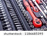 set of hand tools. many wrench... | Shutterstock . vector #1186685395