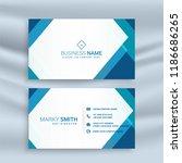 professional blue geometric... | Shutterstock .eps vector #1186686265