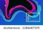 wavy geometric colorful... | Shutterstock .eps vector #1186687195