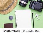 top view of traveler... | Shutterstock . vector #1186688158