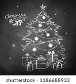 white chalk vector sketch of... | Shutterstock .eps vector #1186688932