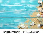 summer time concept with sea... | Shutterstock . vector #1186689805