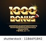 vector casino banner 1000 bonus.... | Shutterstock .eps vector #1186691842