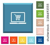 webshop white icons on edged... | Shutterstock .eps vector #1186693555