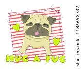 funny happy dog simple vector... | Shutterstock .eps vector #1186693732