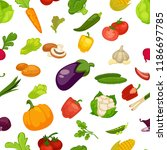 vegetables aubergine and... | Shutterstock .eps vector #1186697785