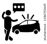 a person is asking for roadside ... | Shutterstock .eps vector #1186702645