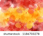 watercolor splashes background... | Shutterstock .eps vector #1186703278