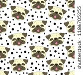 seamless vector pattern with... | Shutterstock .eps vector #1186705255