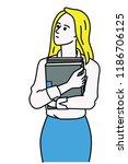 vector illustration character... | Shutterstock .eps vector #1186706125