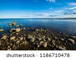 a view of the lake from the... | Shutterstock . vector #1186710478