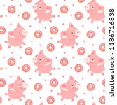 seamless vector pattern with... | Shutterstock .eps vector #1186716838
