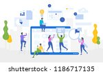 data analysis. website... | Shutterstock .eps vector #1186717135