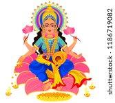 diwali indian holiday lakshmi...   Shutterstock .eps vector #1186719082