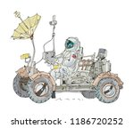 a lunar rover or moon rover...   Shutterstock .eps vector #1186720252