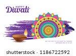diwali festival greeting card... | Shutterstock .eps vector #1186722592
