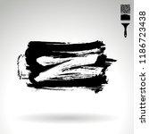 black brush stroke and texture. ... | Shutterstock .eps vector #1186723438