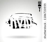 black brush stroke and texture. ... | Shutterstock .eps vector #1186723555