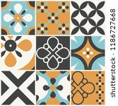 decorative tile pattern design. ... | Shutterstock .eps vector #1186727668