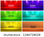 set of empty vivid color studio ... | Shutterstock .eps vector #1186728028