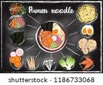 ramen ingredients  with...   Shutterstock .eps vector #1186733068
