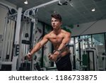 young and fit man at the gym | Shutterstock . vector #1186733875