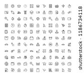 online store flat icon set.... | Shutterstock .eps vector #1186734118