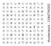 online store flat icon set.... | Shutterstock .eps vector #1186734202