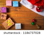 christmas decorations. holiday... | Shutterstock . vector #1186737028