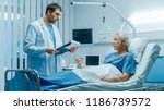in the hospital  recovering... | Shutterstock . vector #1186739572