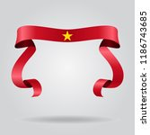 vietnamese wavy flag abstract... | Shutterstock . vector #1186743685