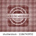 gold membership red polygonal... | Shutterstock .eps vector #1186743952