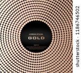golden quartz abstract circle.... | Shutterstock .eps vector #1186746502