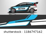 car decal graphic vector racing ... | Shutterstock .eps vector #1186747162