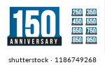 anniversary vector icons set.... | Shutterstock .eps vector #1186749268