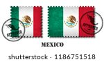 mexico or mexican flag pattern... | Shutterstock .eps vector #1186751518